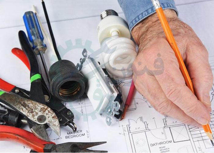 ابزار لوله کشی برق ساختمان