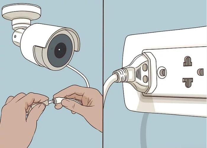 اتصال دوربین به منبع تغذیه