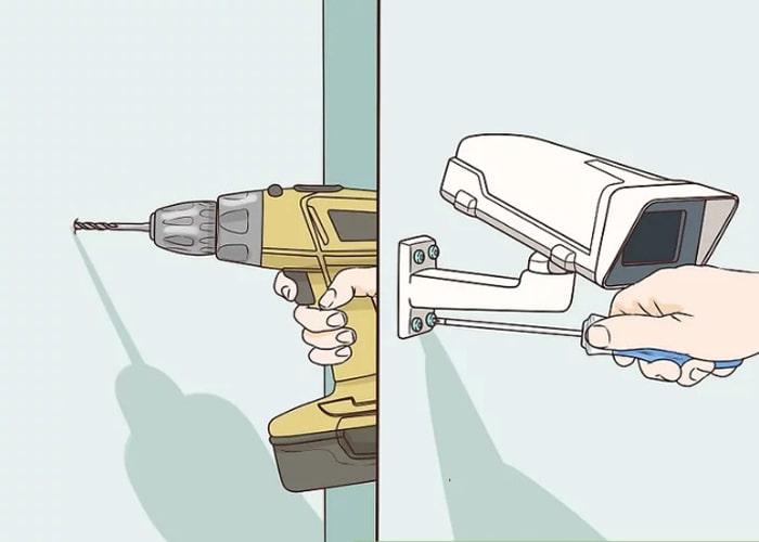 نصب دوربین بر روی دیوار