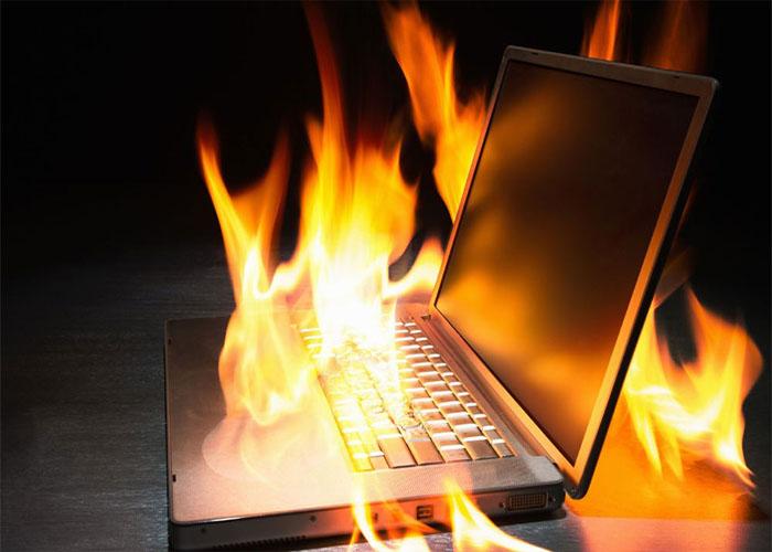 گرم شدن باتری لپ تاپ
