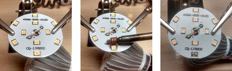 تعمیر لامپ ال ای دی